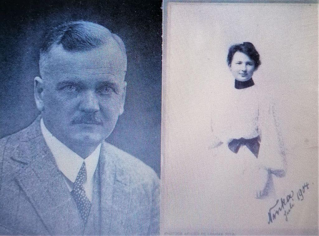 Milan Lenarčič in Minka/ Ninka Stare (vir: Kramberger, Milan Lenarčič…, str. 15)