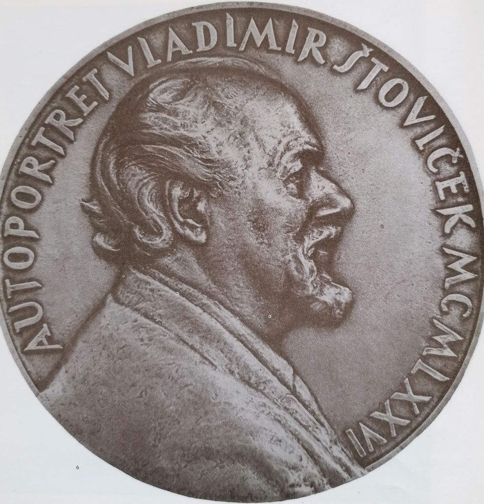 Vladimir Štoviček, Avtoportret, 1976 (vir: Vladimir Štoviček. Slovenski medaljer in kipar…1981, sl. 6)
