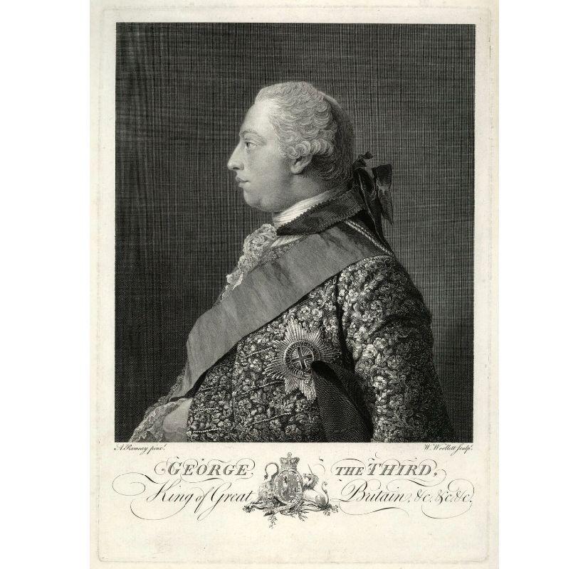 William Woollett (po Allanu Ramsayu), gravura, 1762–1763, Jurij III. (vir: National Portrait Gallery, https://www.npg.org.uk/collections/search/portrait/mw141679/King-George-III?, oktober 2020)