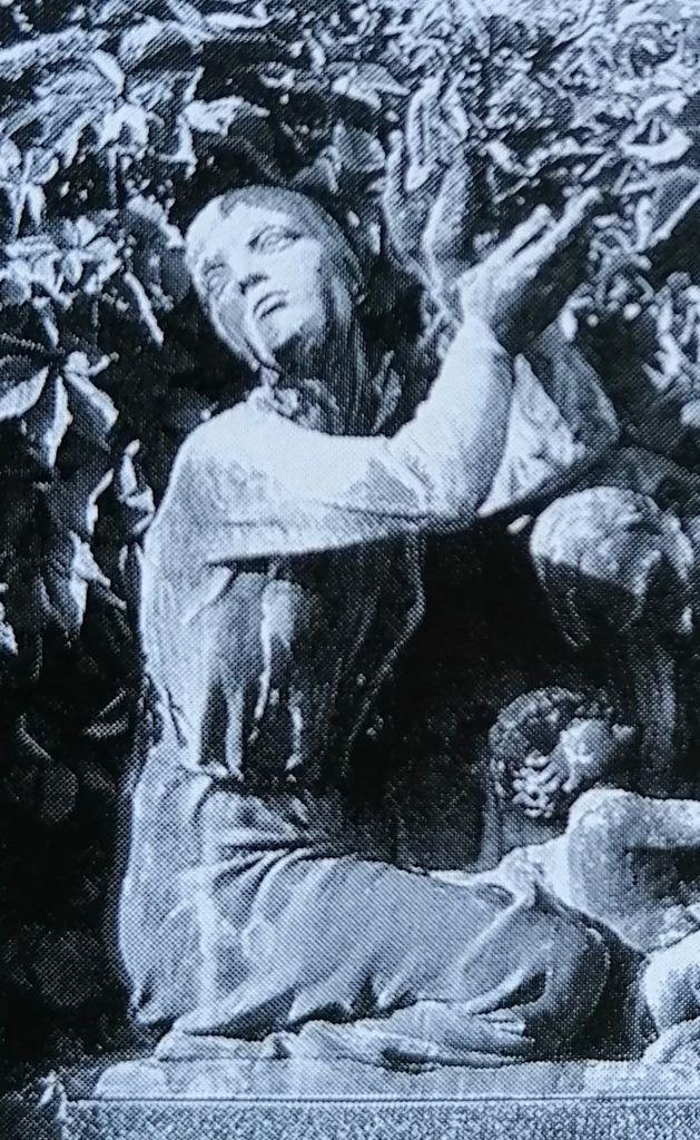 Boris Kalin, relief na nagrobnem spomeniku Jurija Verovška († 1934) in drugih članov družine (vir: Piškur, Ljubljanske Žale…, str. 61)