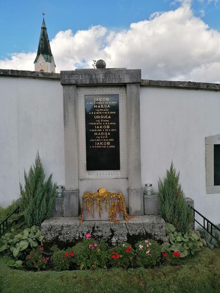 Franjo Kunovar ml., nagrobni spomenik družine Stržinar na vrhniškem pokopališču (foto: S. K.)