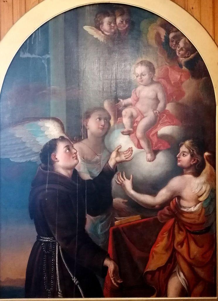 1.Hotedršica, župnišče, Jurij Tavčar (pripisano): Antonova vizija Deteta Jezusa