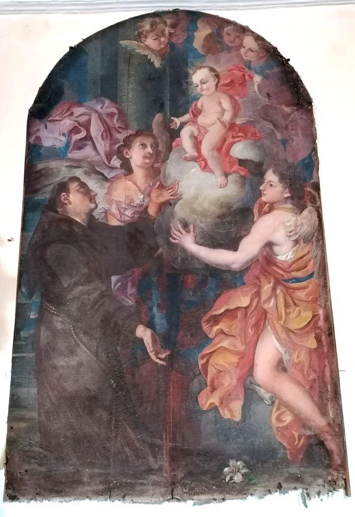 2.Idrija, p. c. sv. Antona Padovanskega, Johann Carl von Reslfeld (pripisano): Antonova vizija Deteta Jezusa