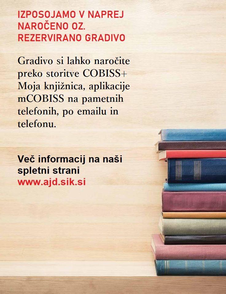 Lavričeva knjižnica obvešča