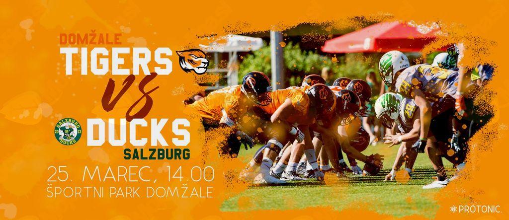 Ameriški Nogomet, Tigers vs Ducks, 25. marec ob 14h, Športni park Domžale