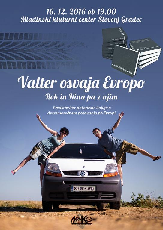 Predstavitev potopisne knjige o desetmesečnem potovanju po Evropi