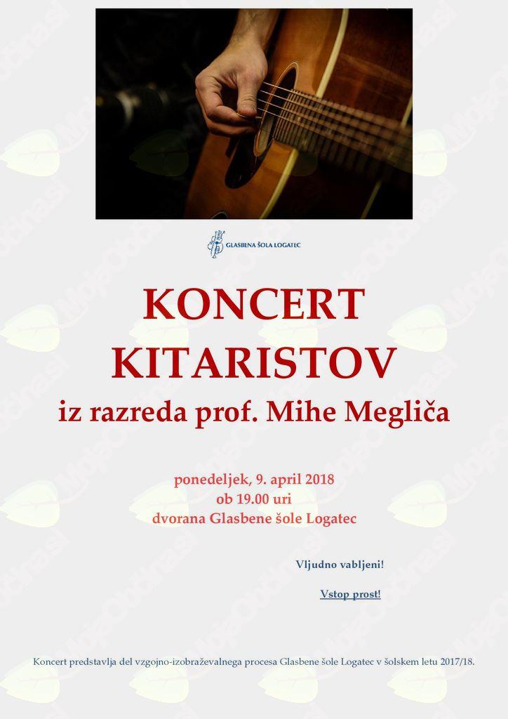 Koncert kitaristov iz razreda prof. Mihe Megliča