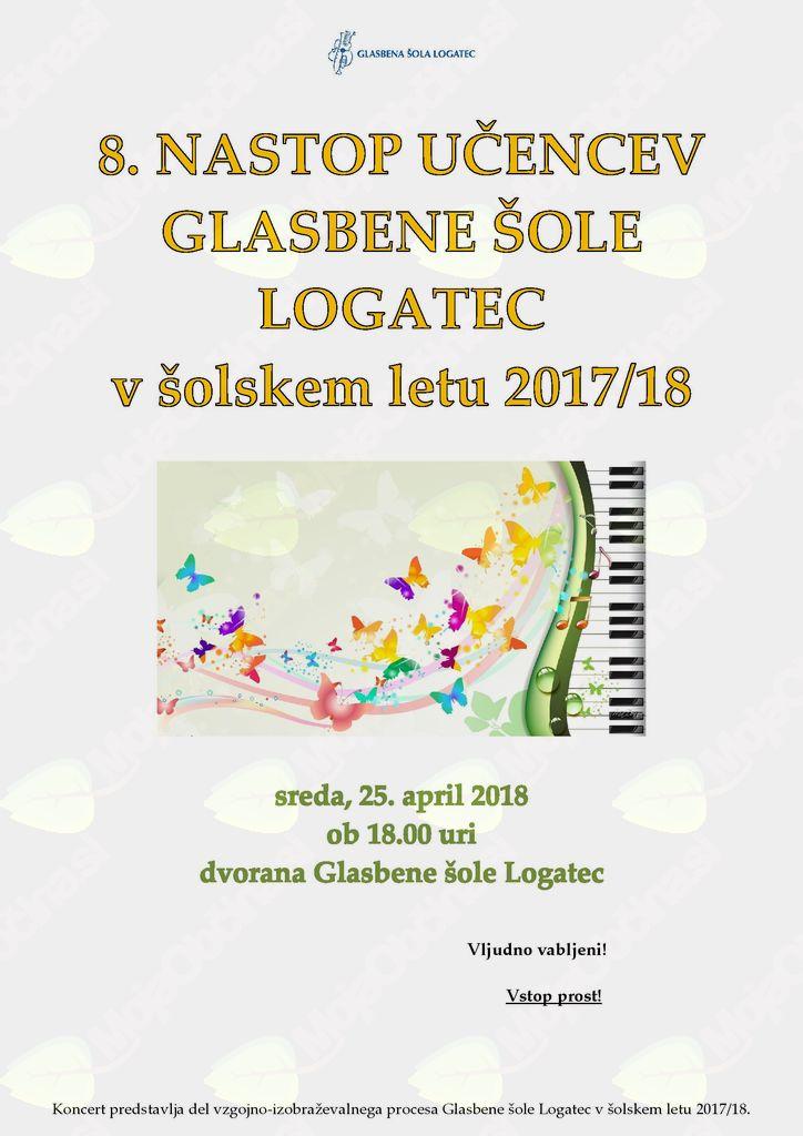 8. nastop učencev Glasbene šole Logatec