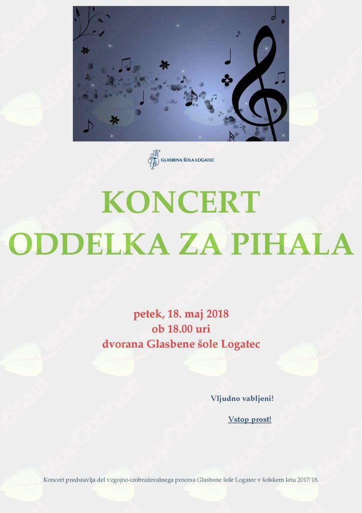 Koncert oddelka za pihala