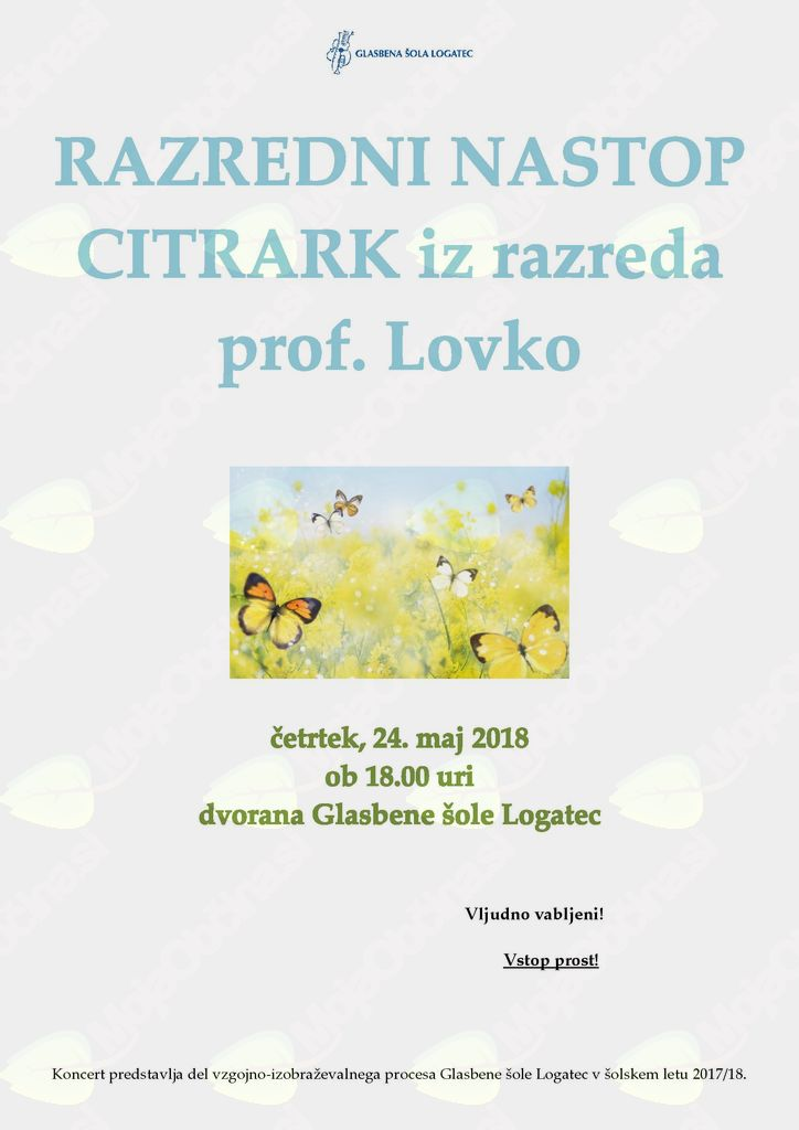 nastop citrark iz razreda prof. Lovko