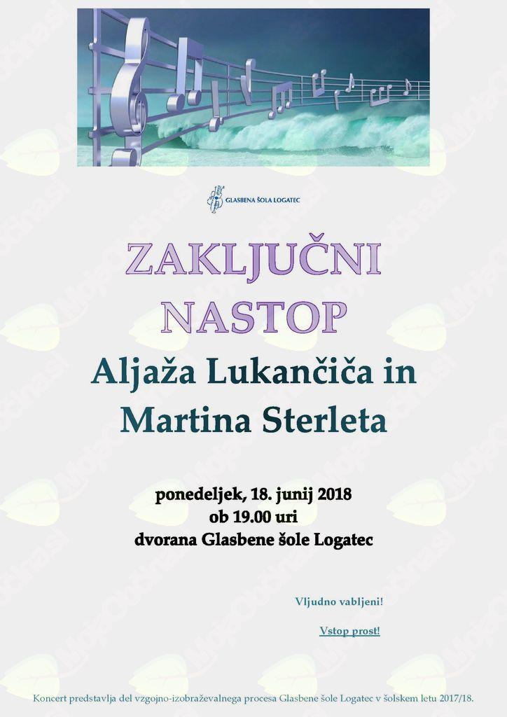 Zaključni nastop trobilcev - Aljaža Lukančiča in Martina Sterleta
