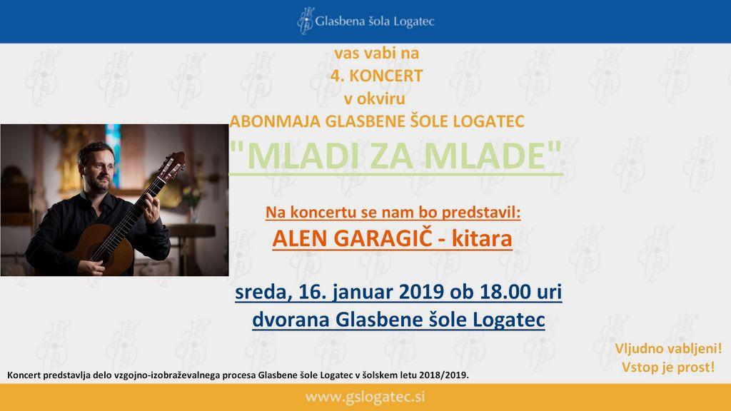"""4. koncert v sklopu Abonmaja """"Mladi za mlade"""""""