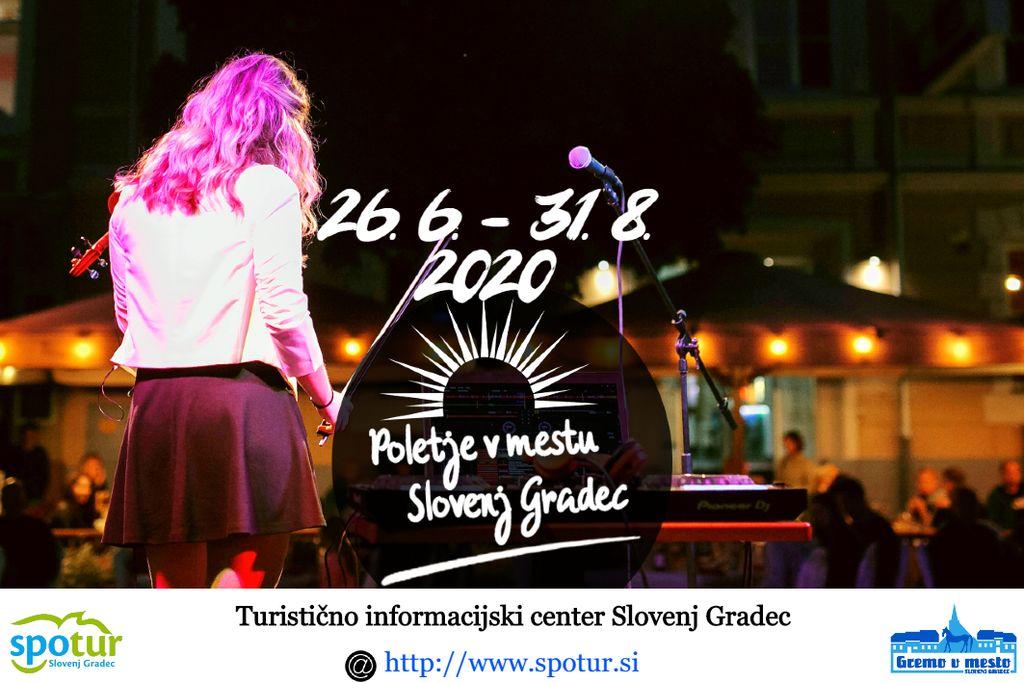 Poletje v mestu Slovenj Gradec 2020