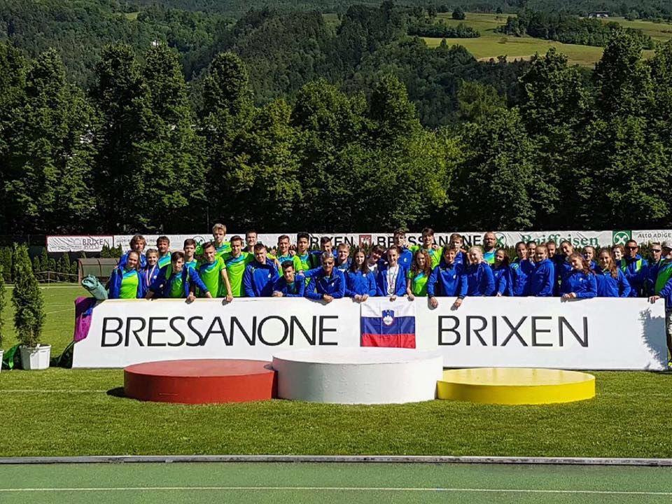 V reprezentanci mitinga v italijanskem mestu Bressanone TRIJE naši atleti!