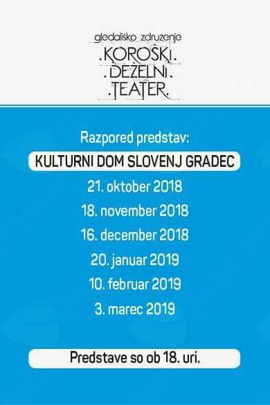 Pričetek ljubiteljskega gledališkega abonmaja tudi v Slovenj Gradcu