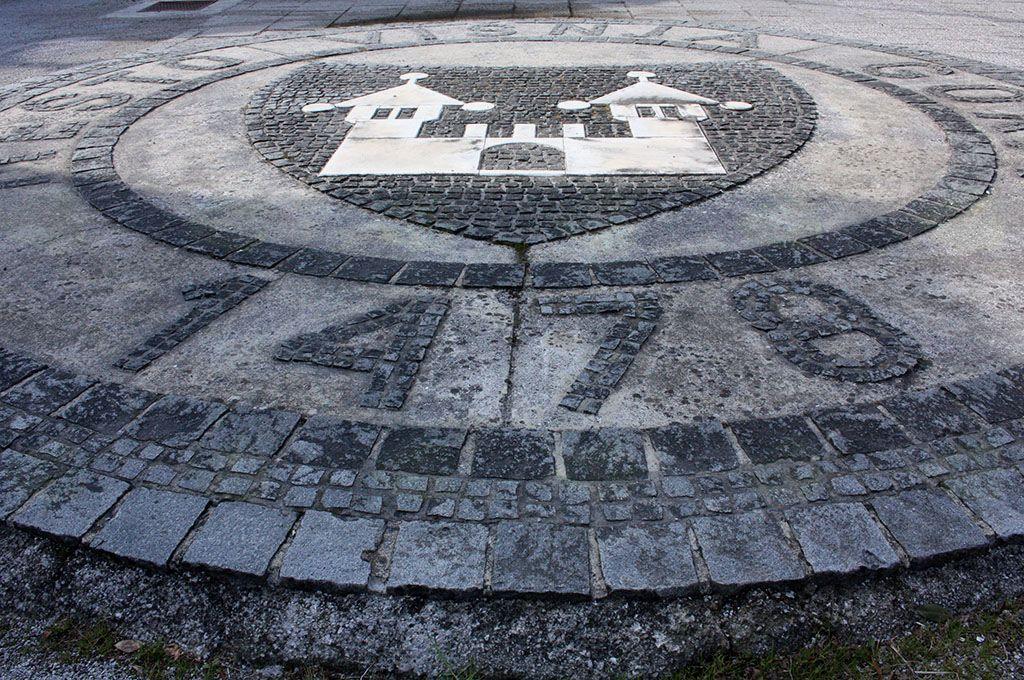 Letnica v talnem mozaiku priča, da je Višnja gora že davno tega dobila mestne pravice