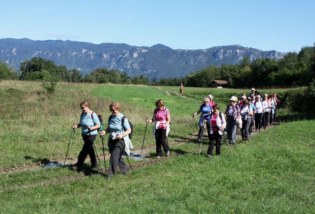 Nad Planino se pot počasi dviga preko travnikov in pašnikov