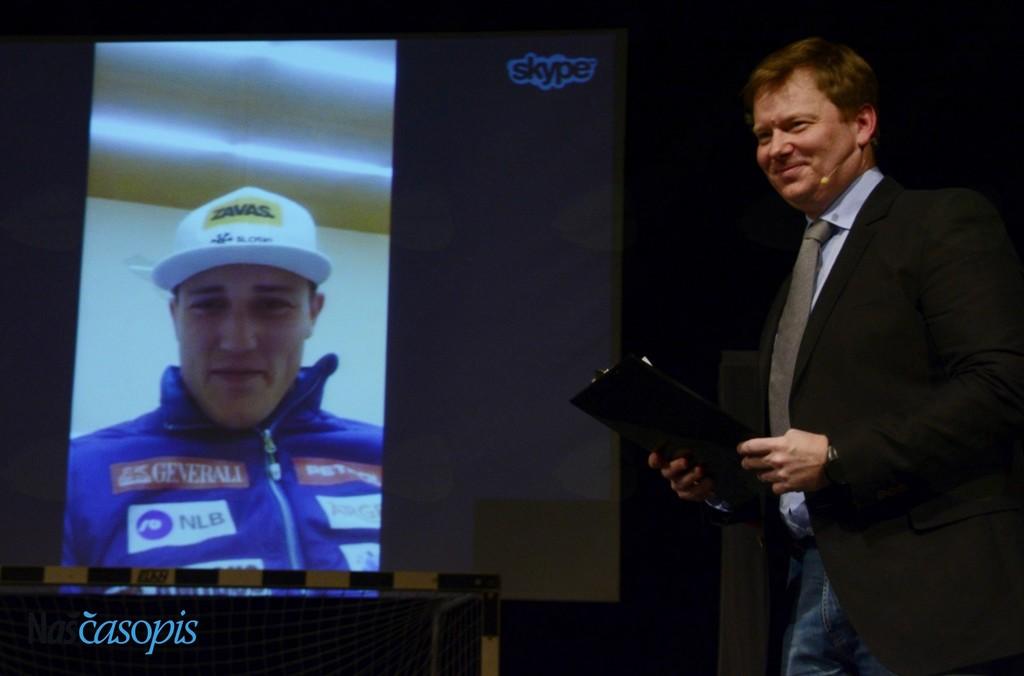 Štefan Hadalin na Skypu