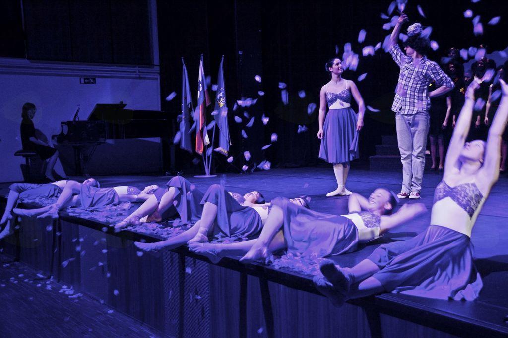 Učenke 5. razreda baleta v GŠ Vrhnika