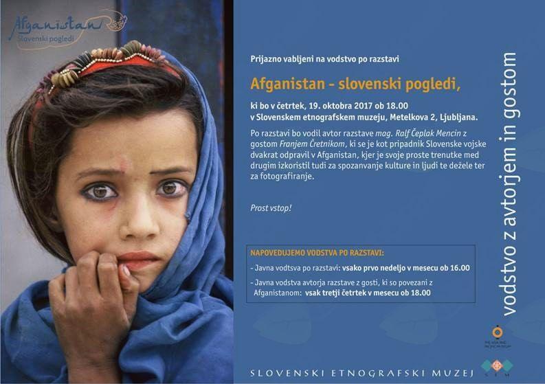 Vodenje po razstavi o Afganistanu s Franjem Čretnikom