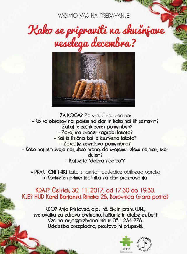 Kako se pripraviti na skušnjave veselega decembra?