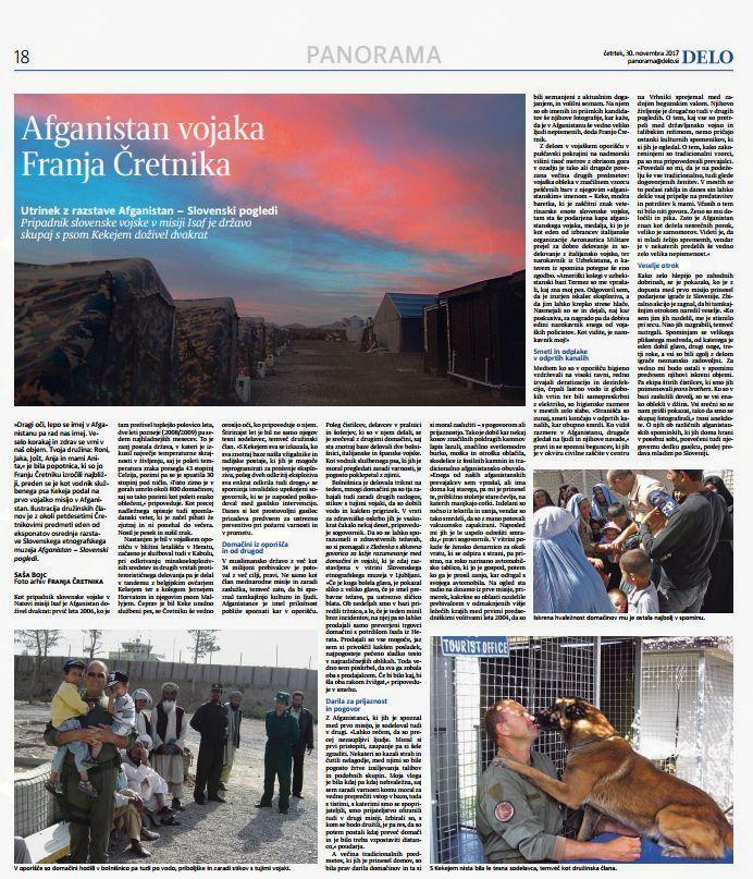 Afganistan vojaka Franja Čretnika