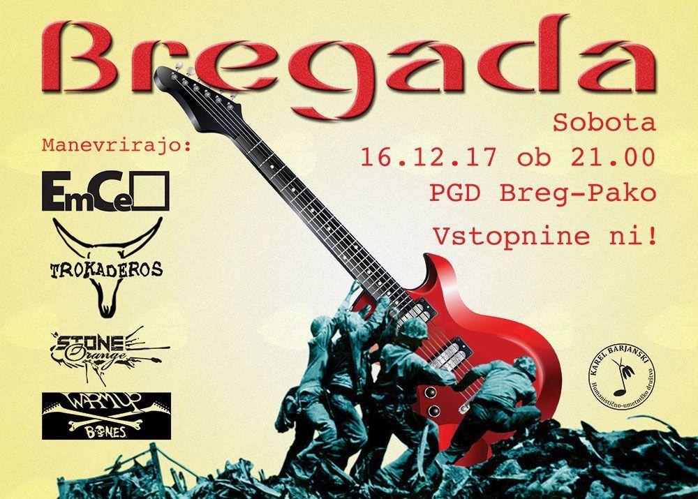 Vabljeni na rock koncert Bregada