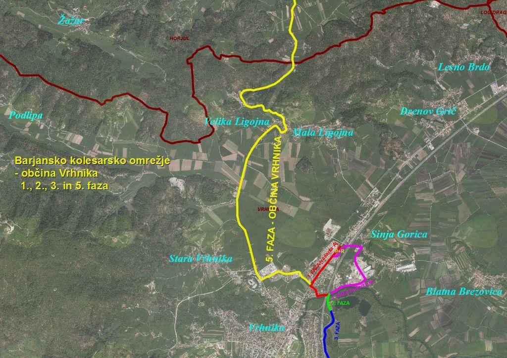 Gradnja regionalnih kolesarskih povezav tudi čez občino Vrhnika