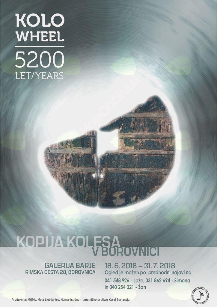 Borovnica: razstava Kolo - kopija 5200 let starega kolesa
