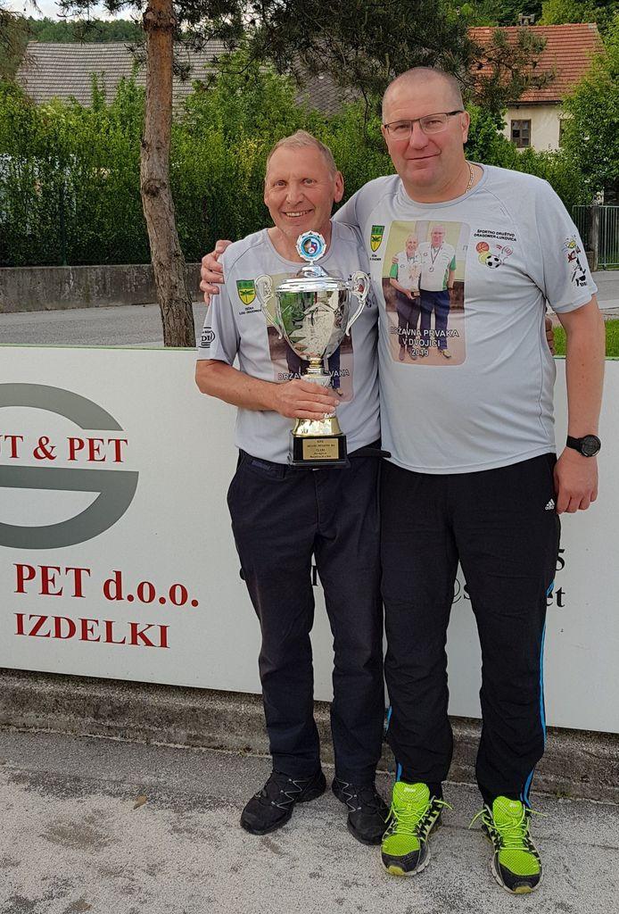 Državna prvaka – Damjan Vindišar in Vinko Koprivec