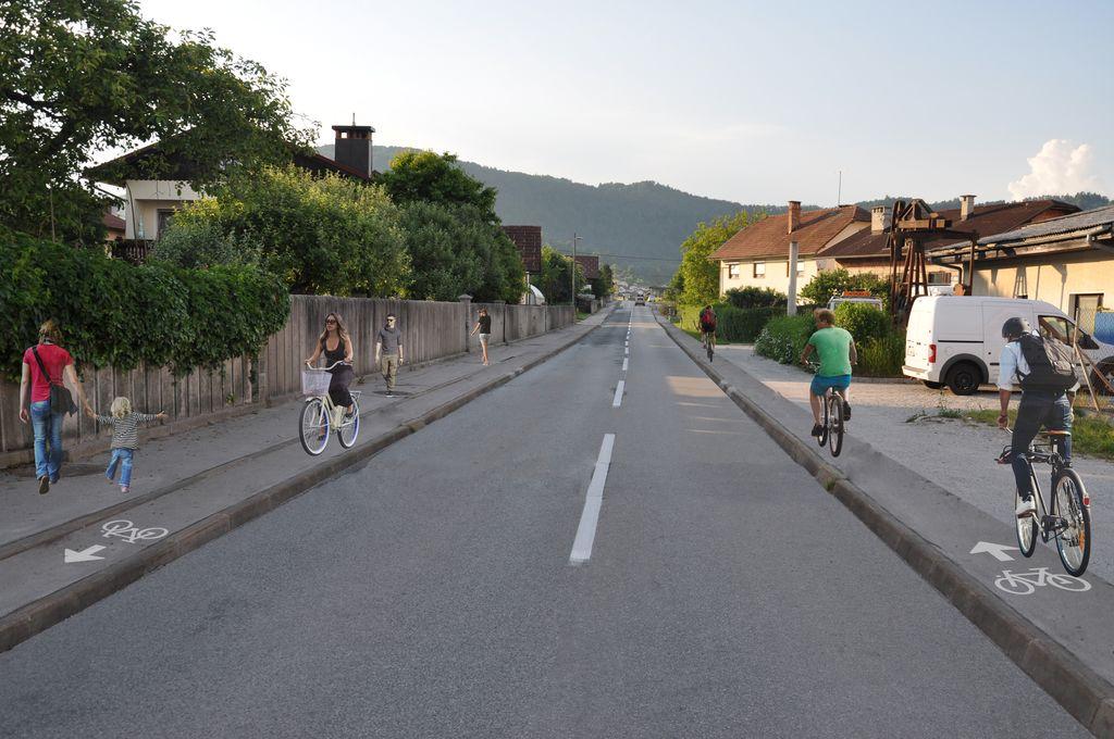 Od izziva v realnost: s kolesom varno od Polhovega Gradca do Ljubljane