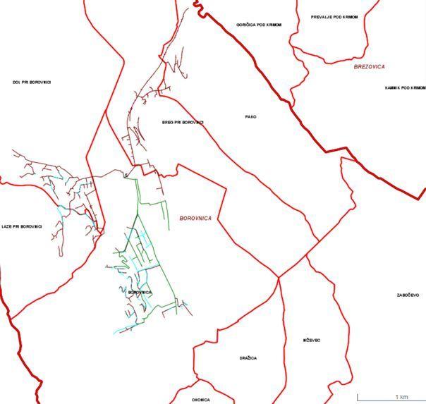 Javni kanalizacijski sistem v občini (vir: Kaliopa)
