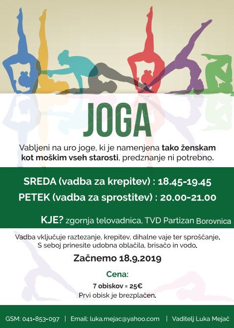 Joga in Bodybeat v Borovnici
