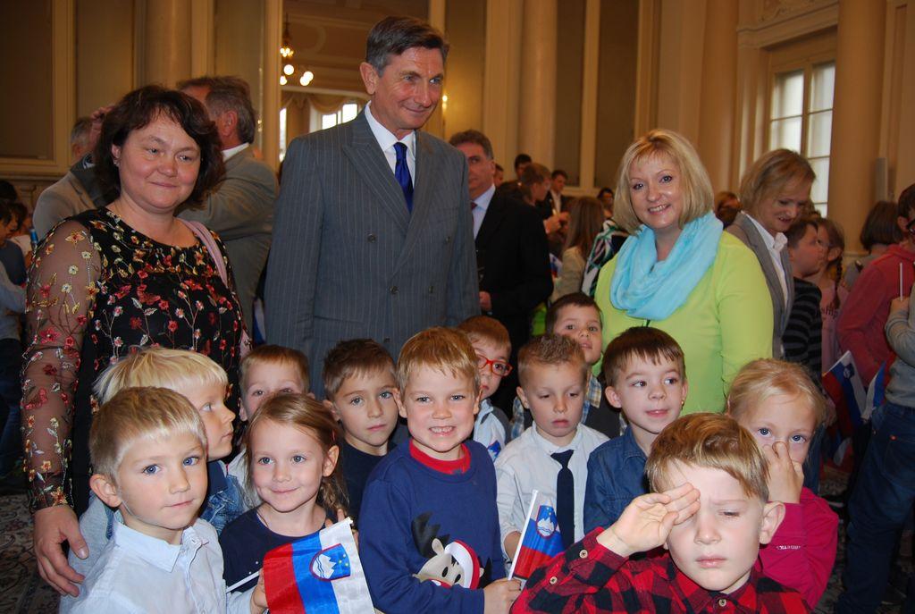 Vrtec Vrhnika na obisku pri predsedniku države, g. Borutu Pahorju