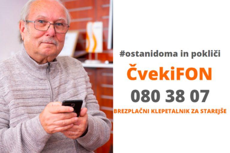 Brezplačna klepetalna telefonska linija za starejše - ČvekiFON