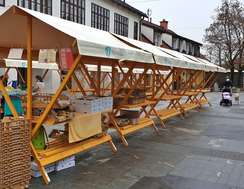 Na tržnico postavili 15 novih stojnic