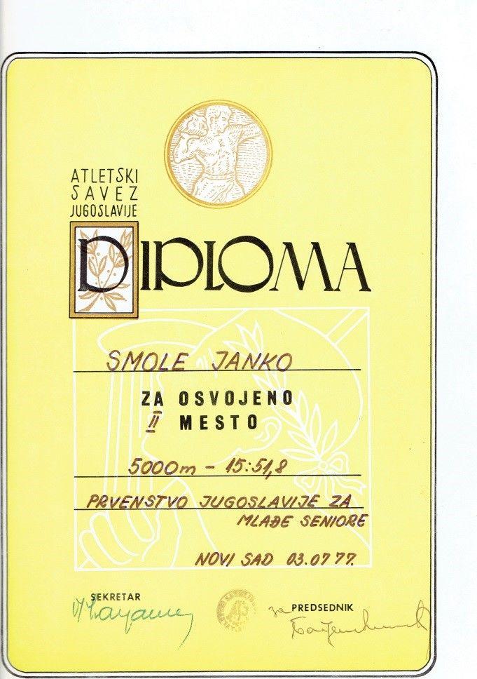 Diploma, Novi Sad