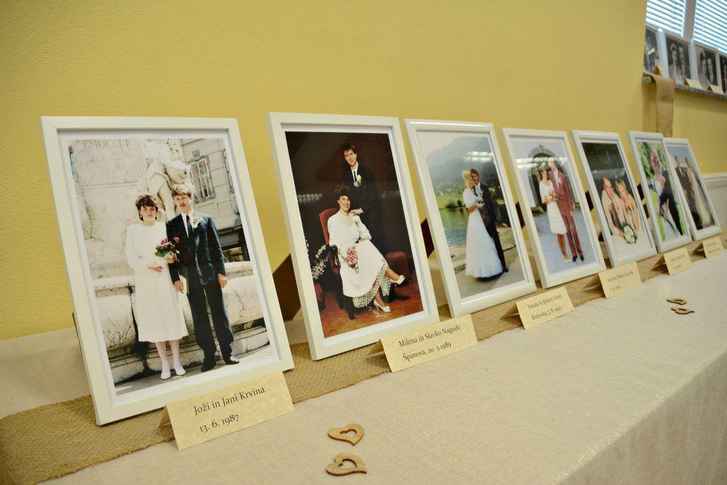 Poročna obleka iz 1941, ki jo nosijo še danes