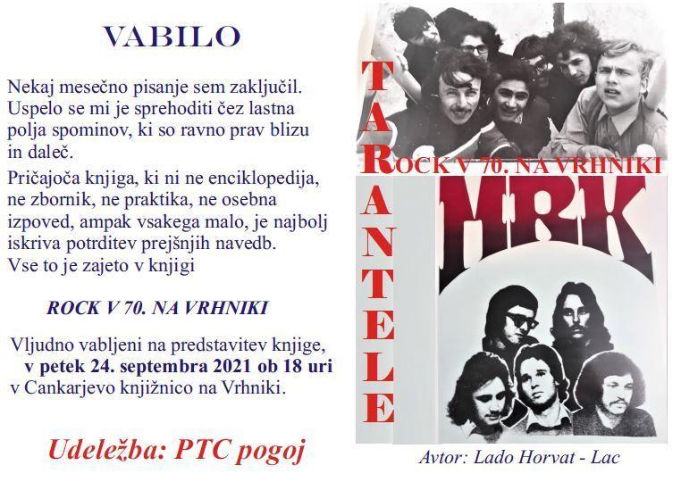 Vabljeni na predstavitev knjige Rock v 70. na Vrhniki
