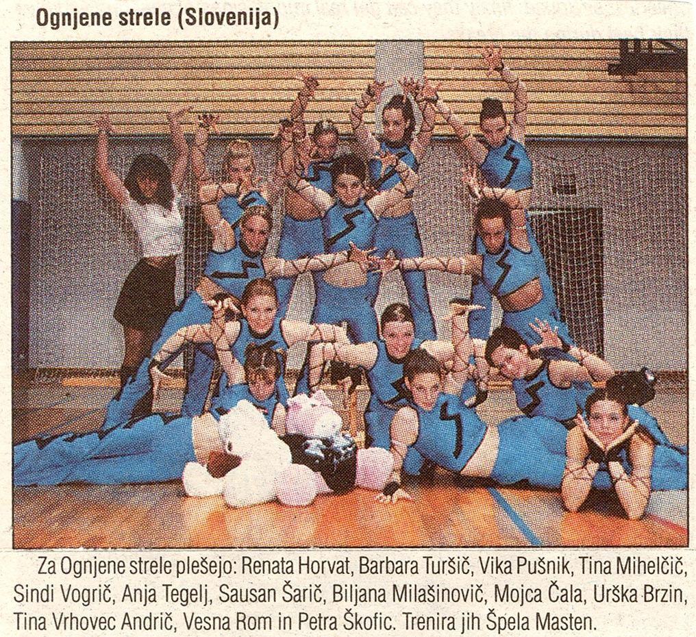 Plesna skupina Ognjene strele na 8.ECA v Ljubljani (leto 2000)