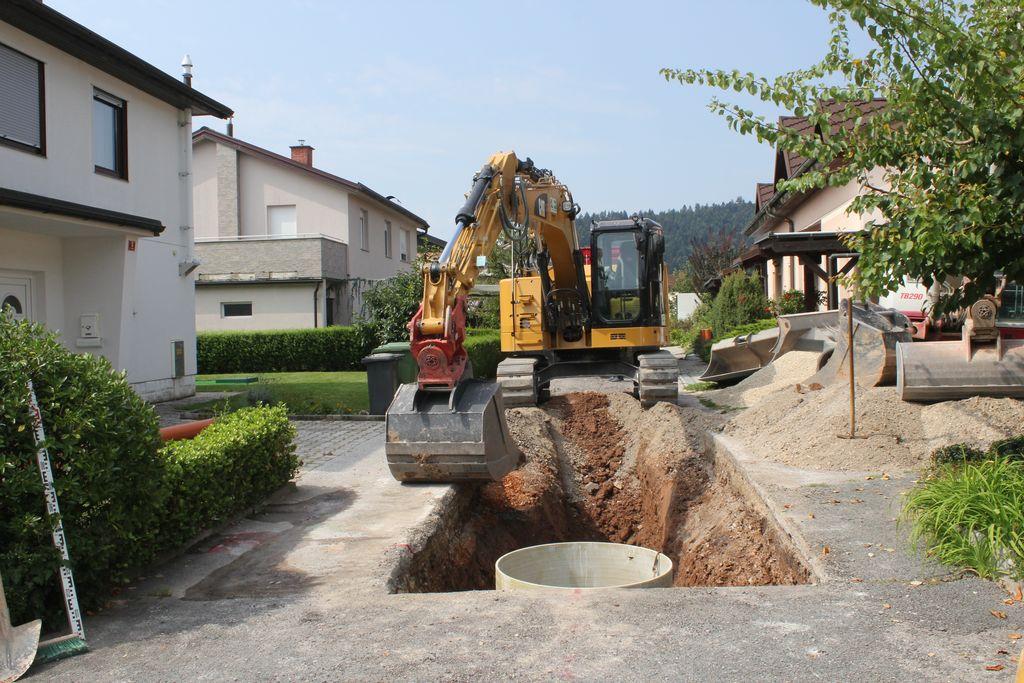 V Dragomerju gradijo gravitacijsko tlačne kanalizacijske vode
