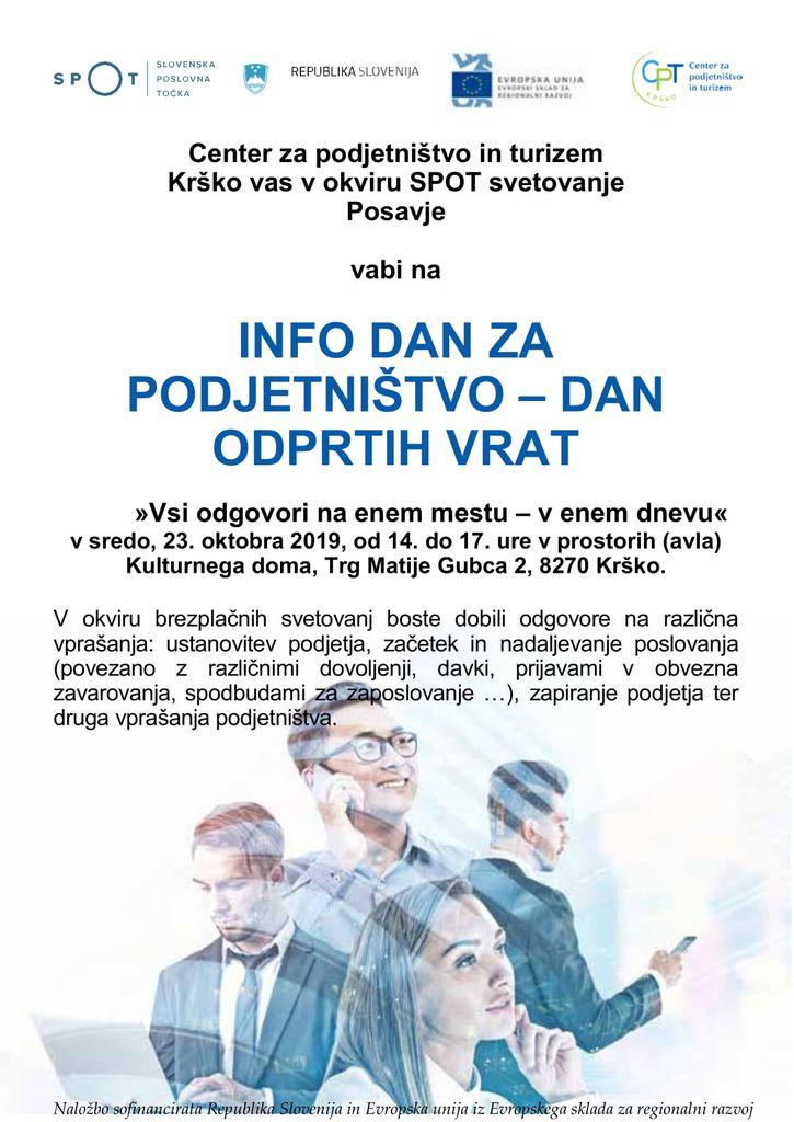 Center za podjetništvo in turizem Krško vas v okviru SPOT svetovanje Posavje vabi na
