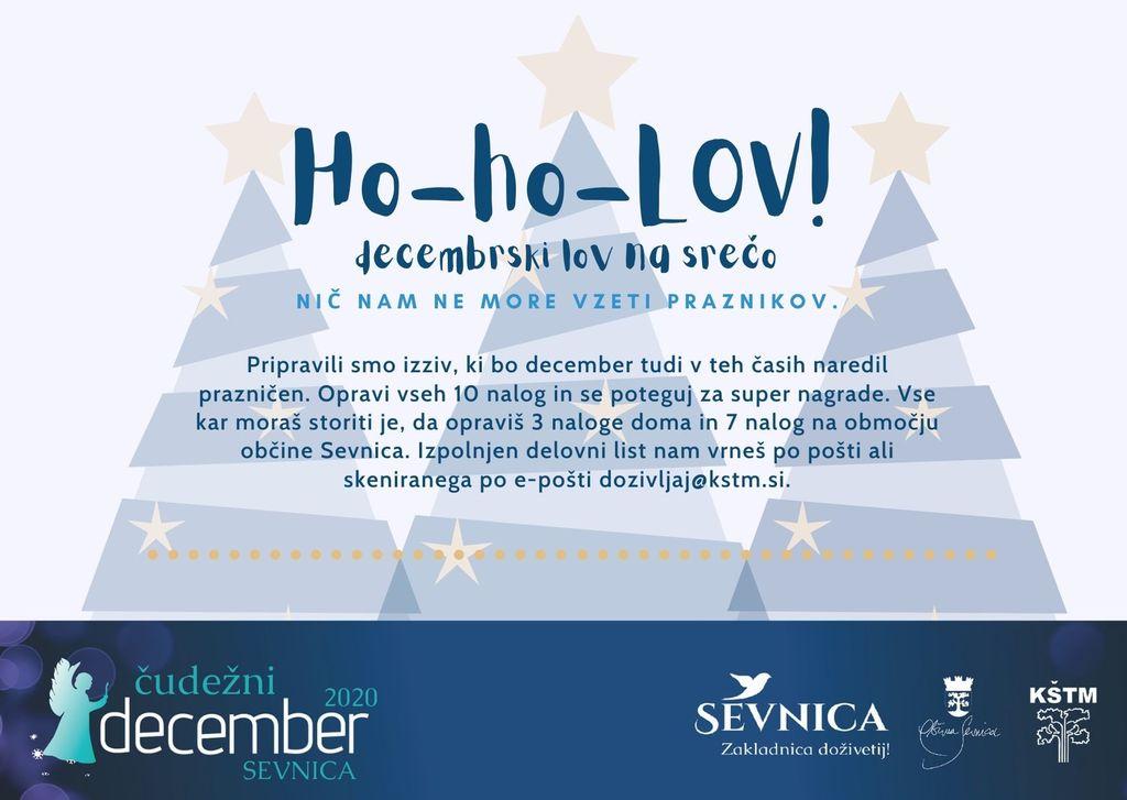 Ho-ho-LOV! - decembrski lov na srečo