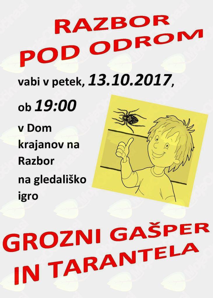 Grozni Gašper in Tarantela - otroška gledališka predstava