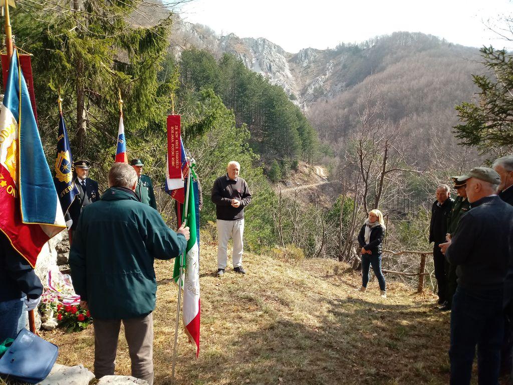 75-letnica poboja partizanov, zajetih v napadu na tabor II bataljona Briško-Beneškega odreda.