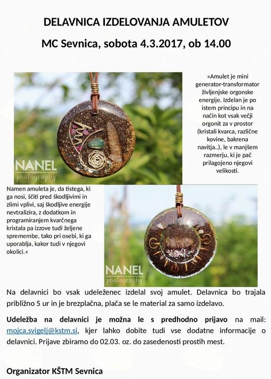 Delavnica izdelovanja amuletov
