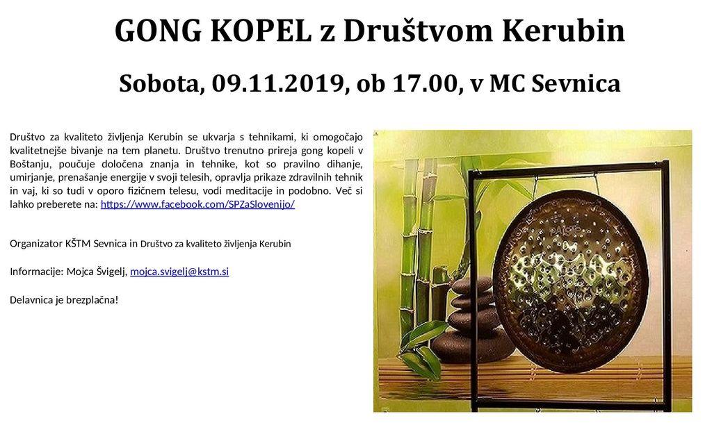 Gong kopel z Društvom Kerubin