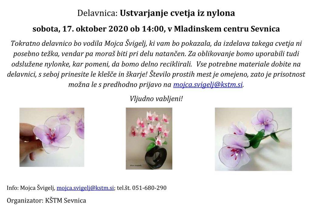 Delavnica: Ustvarjanje cvetja iz najlona