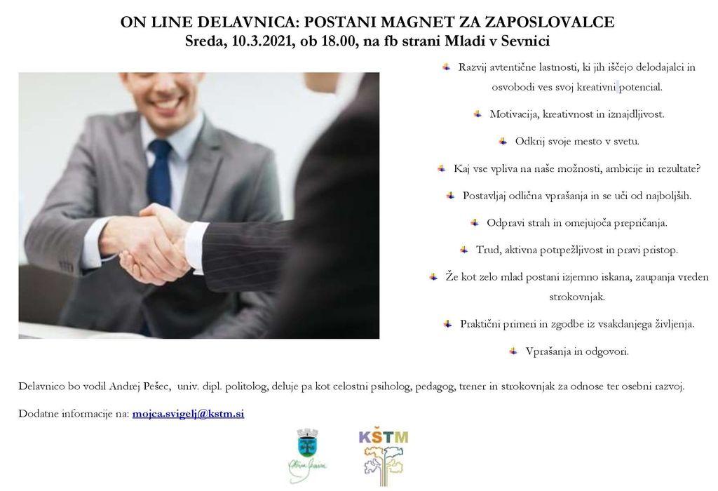 On line delavnica: Postani magnet za zaposlovalce
