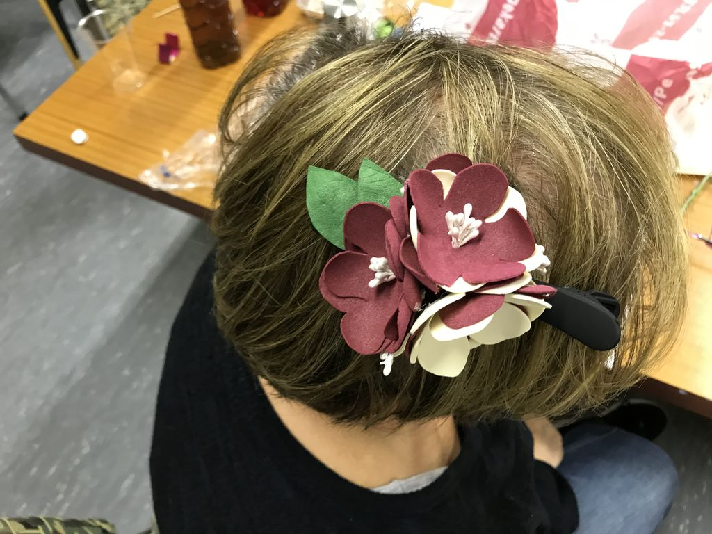 Po delavnici izdelovanja cvetja
